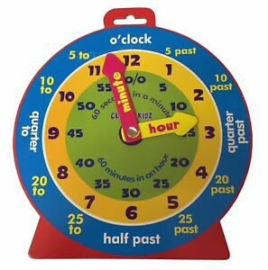 Children's Teaching Clock Learning To Tell Time Educational Magnetic ...
