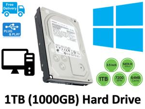Details about 500GB 1TB SATA Internal Desktop PC Hard Drive Disk HDD  Windows 10 Pre Installed