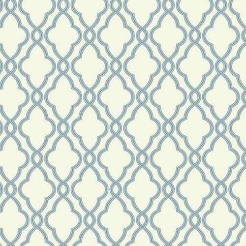 Lattice on White Wallpaper WA7706 FREE shipping Waverly Blue Trellis