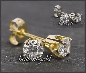 Diamant-Brillant-Ohrstecker-585-Gold-0-47-ct-Brilliant-Ohrringe-14-Karat-Neu