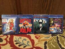 Disney Blu-ray DVD Lot of 4 Movies Wreck-It-Ralph,Maleficdnt,Sword In The Stone