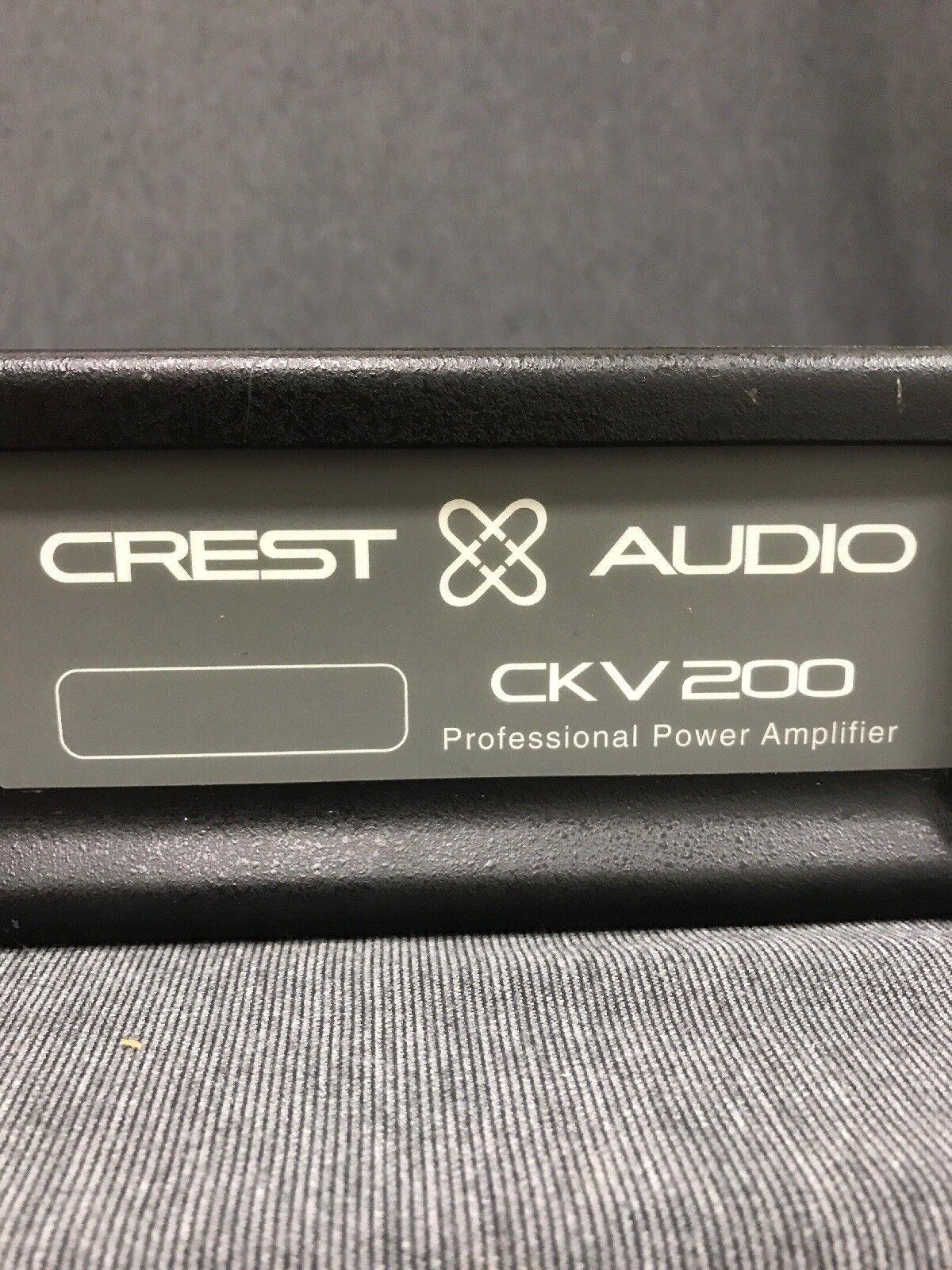 CREST Audio CKV200 Professional Audio Power Amp Working Great