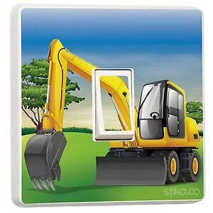JCB-Escavatore-Digger-Interruttore-Luce-Adesivo-In-Vinile-Copertura-Pelle-da-stika-co