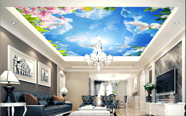 3D Bubble Bird Flower 7 Ceiling Wall Paper Print Wall Indoor Wall Murals CA Kyra