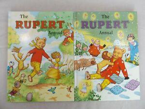 Rupert-Annuals-Bundle-Job-Lot-of-2-Vintage-Retro-The-Bear-Books