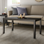 mainstays parsons rectangle coffee table with black wood grain finish, indoor