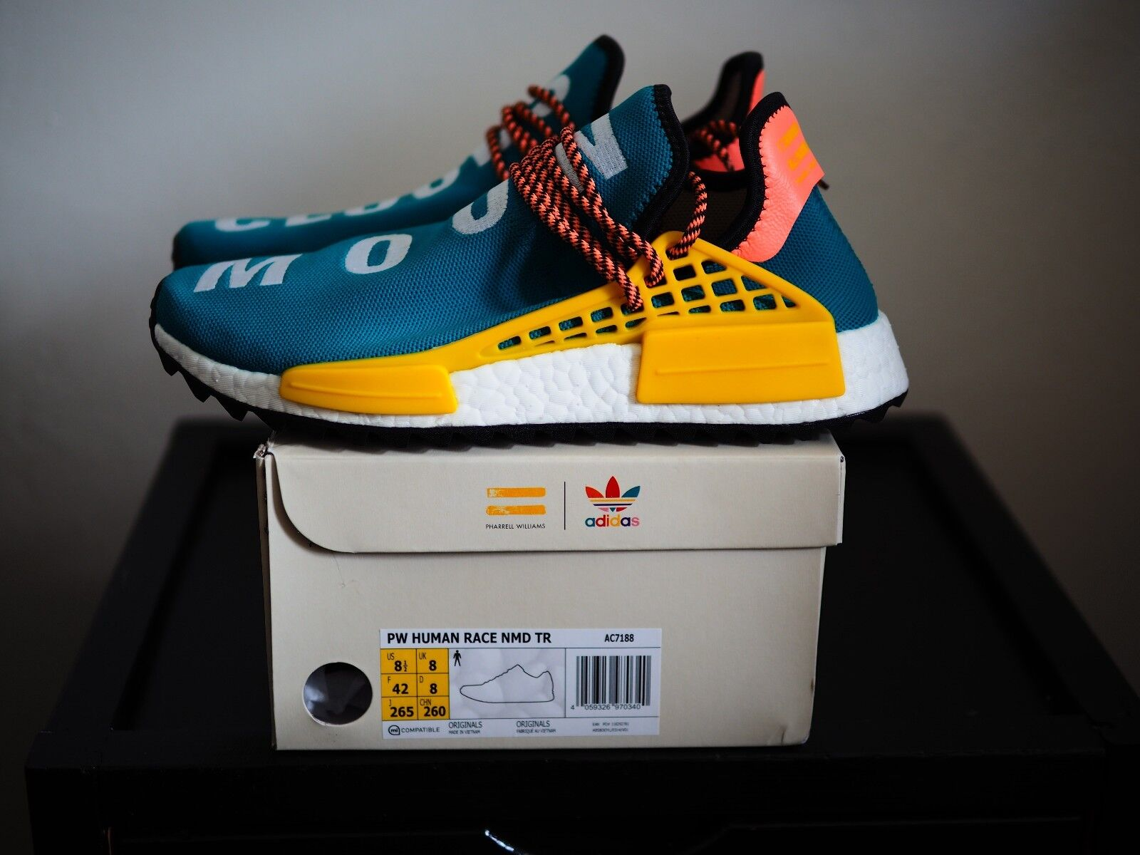 Pharrell Trail Williams x adidas Human Race nmd Trail Pharrell ac7188 Sun Glow TR 8cd436