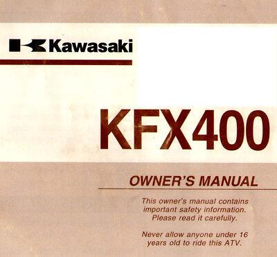 2003 Kawasaki Kfx400 Atv Owners Manual -kfx 400 Atv--kawasaki--kfx400 Atv Im In- Und Ausland FüR Exquisite Verarbeitung, Gekonntes Stricken Und Elegantes Design BerüHmt Zu Sein