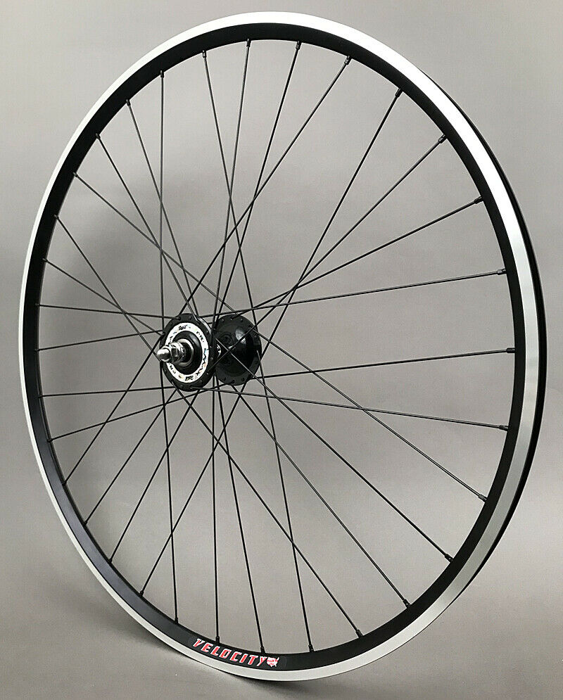 Image 5 - Velocity A23 Black Rims Suzue Hubs Single Speed Track Fixed Gear Bike Wheelset