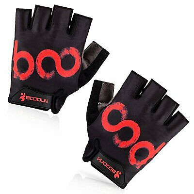BOODUN Men Outdoor Bicycle Cycling Riding Half Finger Gloves Shock-absorbing