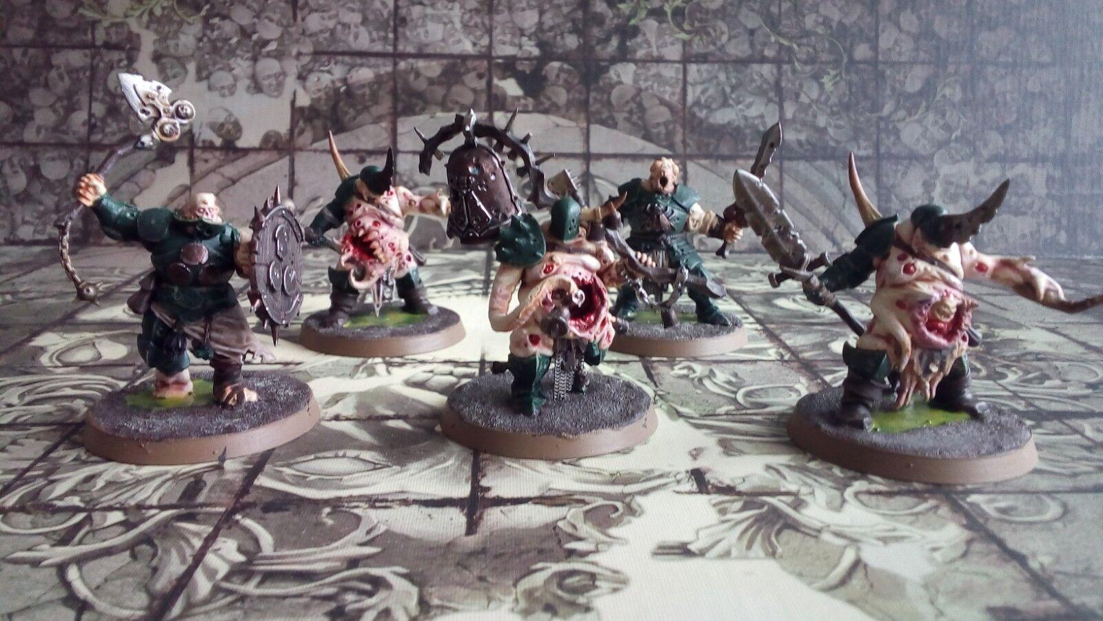 5 X PUTRID BLIGHTKINGS  - Painted Maggotkin Of Nurgle Army