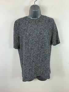 WOMENS-VIYELLA-BLACK-WHITE-SPOT-SHORT-SLEEVED-SMART-CASUAL-SHIRT-BLOUSE-SIZE-8