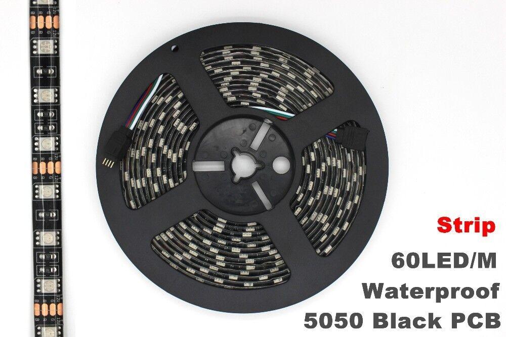 Black Pcb 16 4ft 5m 5050 Smd 300 Waterproof Led Flexible