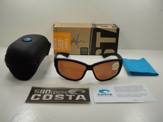 ad6f996080 COSTA DEL MAR POLARIZED SUNGLASSES LUKE LK01 OCP BLACKOUT FRAME COPPER 580P  LENS