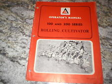 Allis Chalmers 100 200 Rolling Cultivator Owners Operators Manual