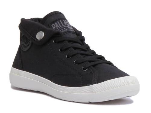 Canvas 8 Aventure White Palladium Uk Womens Trainer Black Size 3 4pTqP