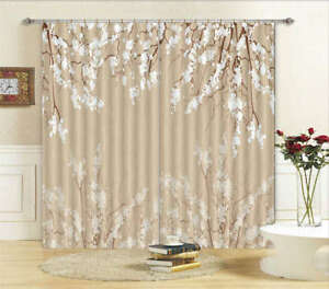 Gorgeous white flowers 3d curtain blockout photo printing curtains image is loading gorgeous white flowers 3d curtain blockout photo printing mightylinksfo