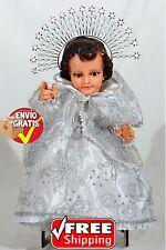 Nino de las Palomas Blanco, Vestido Nino Dios,Ropa Nino Dios,Baby Jesus Clothing