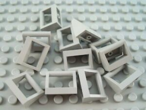LEGO Lot of 12 Light Bluish Gray 1x2 Specialty Bar Handle Plates
