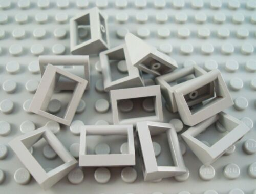 LEGO Lot of 12 Light Gray 1x2 Specialty Toolbox Handle Tiles