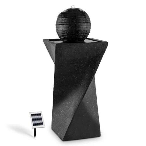 Schönbrunn Garden Outdoor Black Solar Round Standing Ball Water Fountain Feature