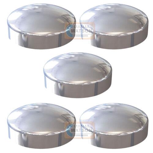 White Plastidome 2 Piece Plastic Dome Screw Cap Cover Protector Pack 100