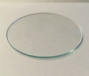 Clear Glass Disk Glass Lens Cut To Size Between 3 Inches