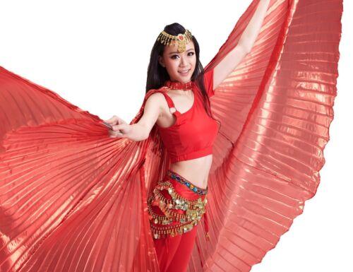 Les femmes Égyptienne danse du ventre costume brillant ailes d/'Isis danse porter