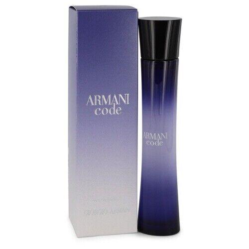 Armani Code by Giorgio Armani Eau De Parfum Spray womens 75ml 2.5oz New In Box