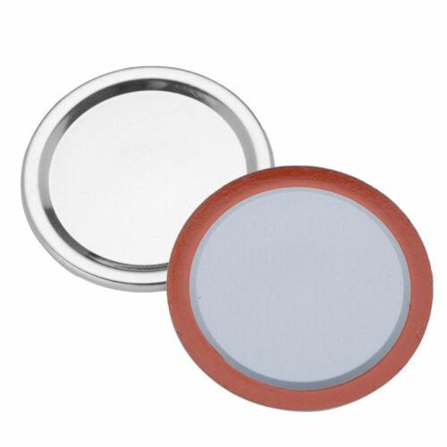 20 Split Vacuum Lids Sealing Storage Solid Caps for Regular//Wide Mouth Mason Jar