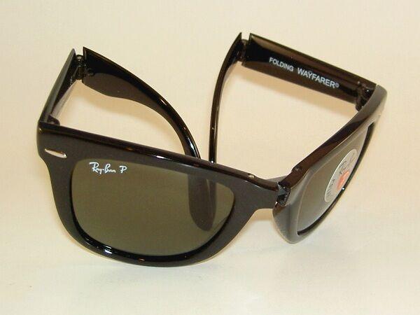 6537fc63cbfc5 Ray Ban Sunglasses Folding Wayfarer RB 4105 601 58 Polarized Green 54mm    eBay