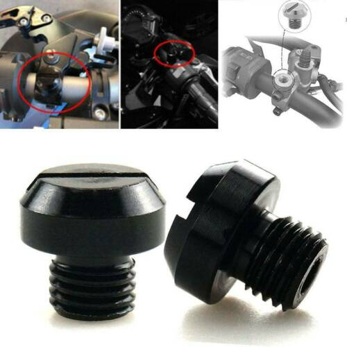 4 Pcs 2 Pairs Of Mirror Hole Plugs Mounting Covers For Yamaha FZ-09 MT-09 MT10