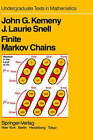 Finite Markov Chains: With a New Appendix Generalization of a Fundamental Matrix by J. Laurie Snell, John G. Kemeny (Hardback, 1976)