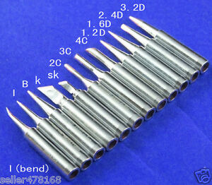 12pcs Soldering Iron Tips 900M-T For Hakko 936//937//928 Soldering Station T SaUAE