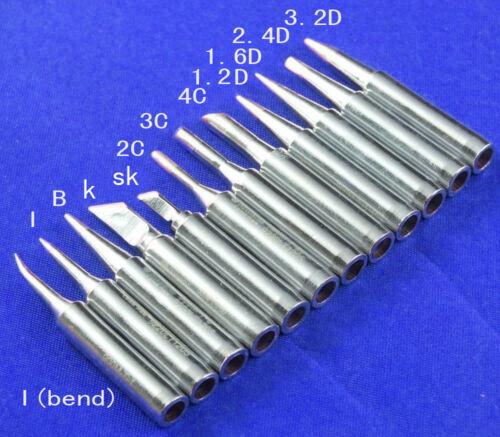 12pc 900M-T Tip for 907 Soldering Iron handle Hakko936//937//928 Soldering Station