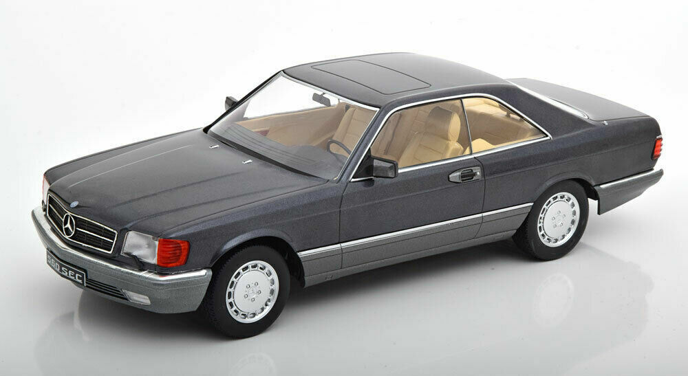 Kk Scale Models 1985 Mercedes Benz 560 Sec C126 Antracita Le de 1000 1 18