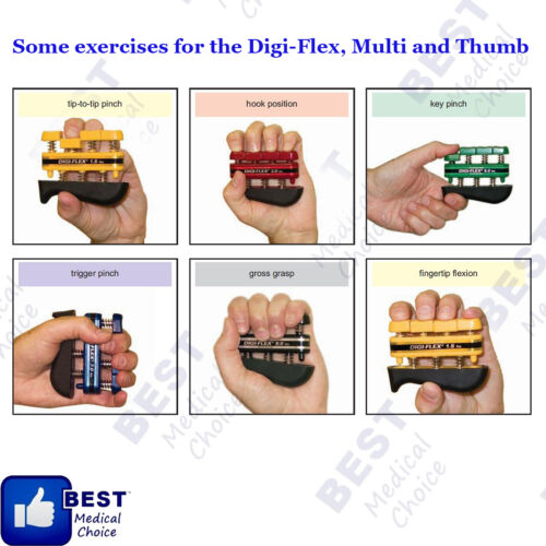 EXERCISE SYSTEM for HAND AND FINGERS CANDO DIGI FLEX X-HEAVY 9 LBS BLACK