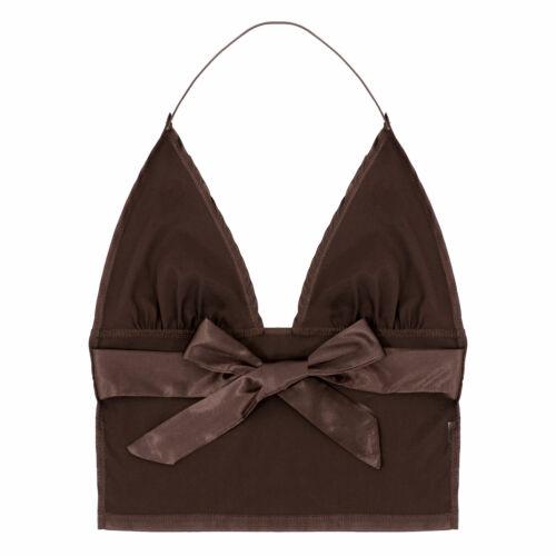 Women Summer Halter Bandage Cami V Neck Sleeveless Backless Vest Tops Clubwear