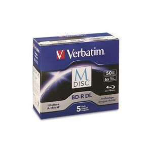Verbatim-M-DISC-50GB-Blu-ray-BDR-DL-Permanent-Data-Archival-Blank-Disc-Media-5pk