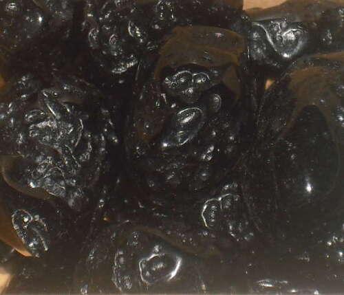 Tektite Noir poli cristaux pierres roulées x 5