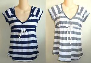 Womens-AEROPOSTALE-Striped-Babydoll-Tied-Top-Shirt-NWT-5373