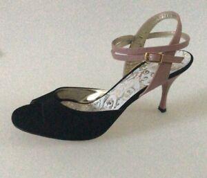 the latest 910dd 17246 Dettagli su Scarpe da Tango Argentino Tangolera Shoes A1CL CAMOSCIO NERO  TACCO 7 CM