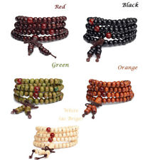 6mm 108 Prayer Beads Tibetan Sandalwood Buddhist Buddha Mala Bracelet Necklace