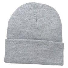 Ash Grey Grey Watch Stocking Cap Beanie Winter Stocking Hat Knit Cold Weather