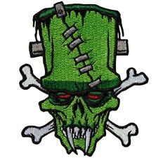 KREEPSVILLE 666 Toxic Toons Frankie Green Crossbones Patch Iron Gothic