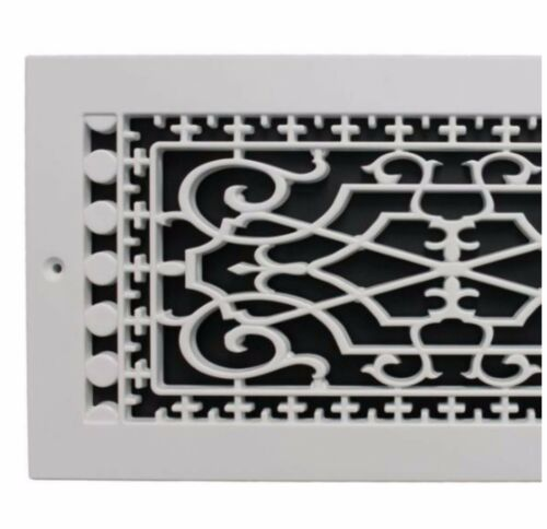 6 x 14 in White Return Cold Air Vent Ventilation Grille Wall Register HVAC Cover