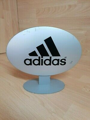 dormitar arrojar polvo en los ojos Contable  Adidas Retail Sign Shop Merchandise - Metal stand standee retro display |  eBay