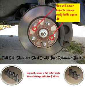 Full-Set-Brake-Disc-Retaining-Bolt-Screw-Honda-Civic-Accord-CRX-HRV-CRV-Jazz-CRZ