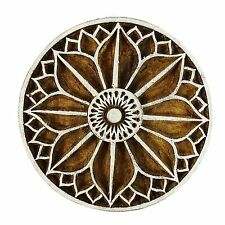 Indian Wood Stamps Floral Printed Handcarved Textile Printing Block Handcarved