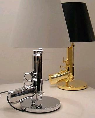 New Beside Gun Table Lamp Desk Lighting Beside Lamp Working Light Silver Golden
